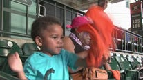 Little Rashad attends his very first Astros game
