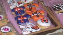 Houston Astros-themed donuts at River Oaks Donuts
