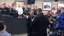 Freeport girl battling cancer fulfills dream of becoming police officer
