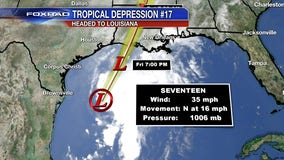 Tropical Depression now Tropical Storm Olga