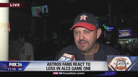 Astros fans react to loss in ALCS Game 1