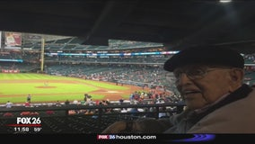 104-year-old Astros fan cheering for World Series win