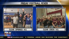 Friday Football Fever hits Clear Creek ISD Wildcats and Chargers show their spirit