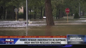 Huffman hit with flooding day after Imelda remnants swept through Houston-area