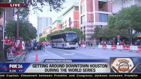 Getting around downtown Houston during the World Series