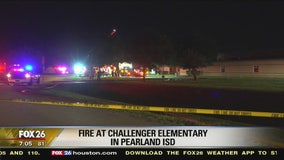 Fire at Challenger Elementary in Pearland ISD