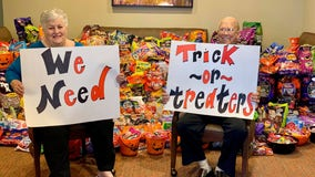 Senior living center in Clear Lake area ready for Halloween after receiving candy donations