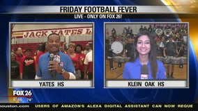Friday Football Fever - Jack Yate HS and Klein Oak showing their school spirit