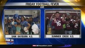 Friday Football Fever Sam Rayburn Texans and Summer Creek Bulldogs
