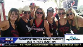 Houston Texans' tailgating with a purpose