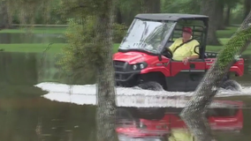 Flooding traps Brazoria County residents in their homes