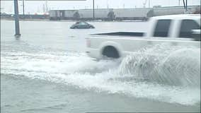 Tropical Depression Imelda floods streets in Galveston