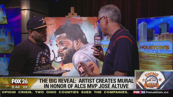 Artist creates mural in honor of ALCS MVP Jose Altuve