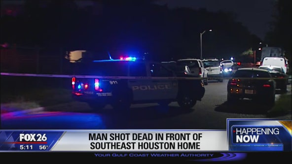Man killed in shooting in front of southeast Houston home