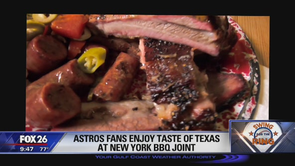 Astros fans enjoy Taste of Texas at New York barbecue joint