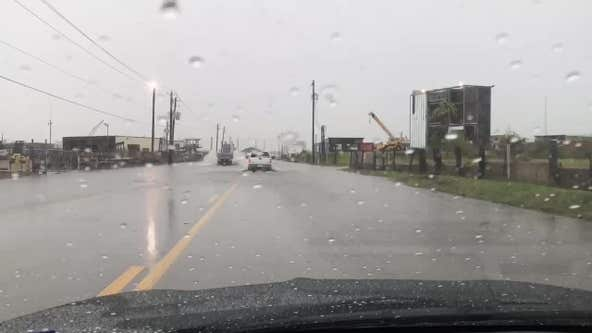 Street flooding in Galveston