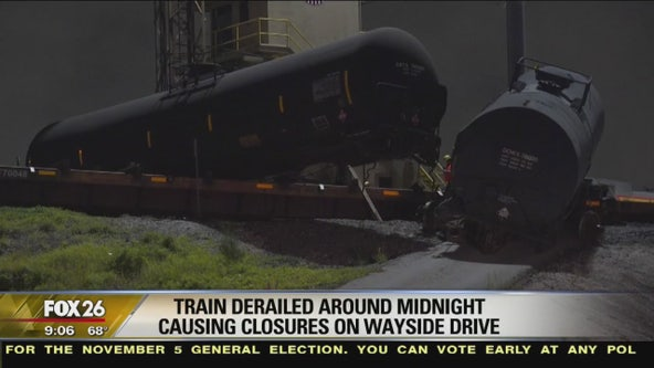 Train derailment in northeast Houston