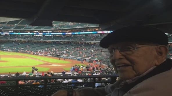 Astros' oldest fan turns 104, hopes for World Series win