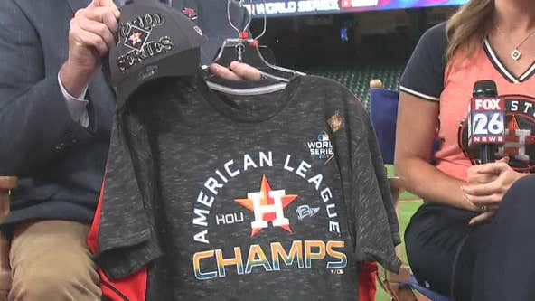 Gearing up for the World Series with Houston Astros merchandise