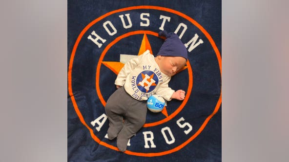 Little Astros fan makes debut on first day of 2019 World Series