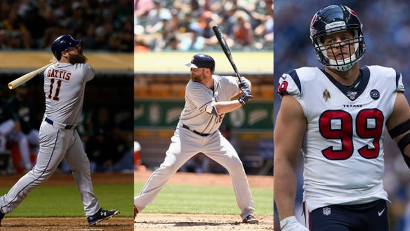 2017 World Champion catchers, Houston Texans star help start off World Series Game 1