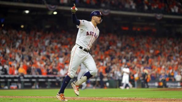 Houston Astros' Carlos Correa dedicates walk-off home run to fan battling cancer: 'I'll be pointing at you'