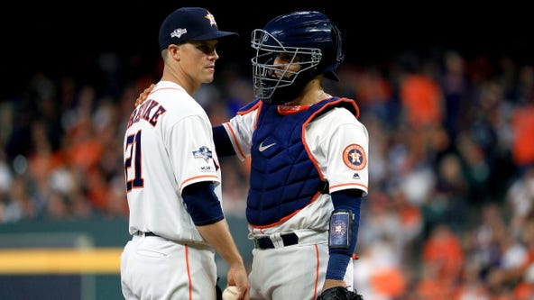 Astros' added ace Zack Greinke drops 2nd playoff start in ALCS G1
