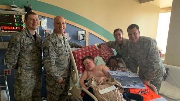 Boy, 11, with terminal brain cancer asks for 'patches and prayers' from military, law enforcement