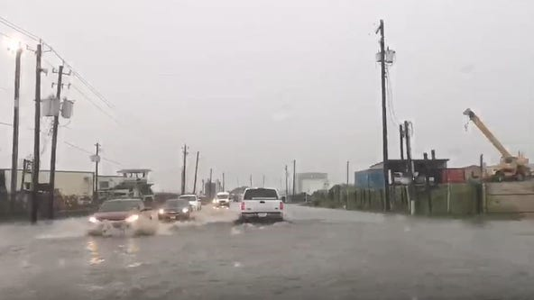 Widespread flooding in Galveston after heavy rains