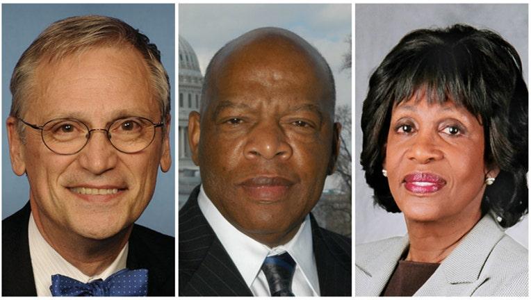 42076035-Democratic Rep-404023. Earl Blumenauer, John Lewis and Maxine Waters
