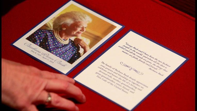Barbara Bush funeral program GETTY-401720