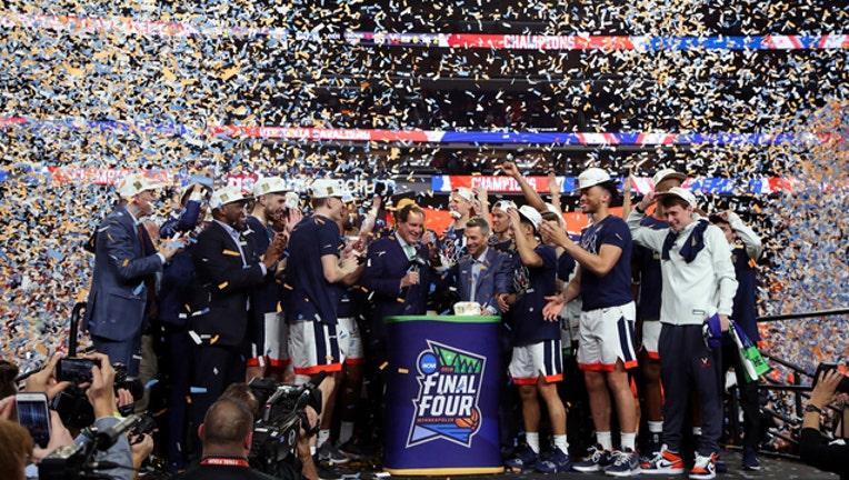 GETTY UVA men's hoops celebration 042619-401720