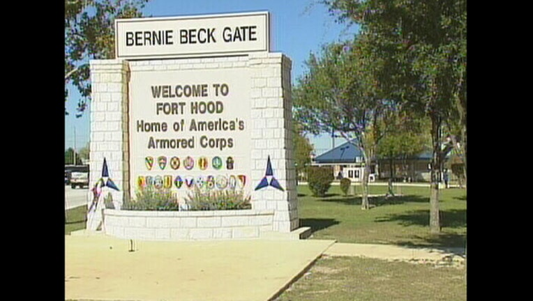 Bernie Beck Gate at Fort Hood in Texas