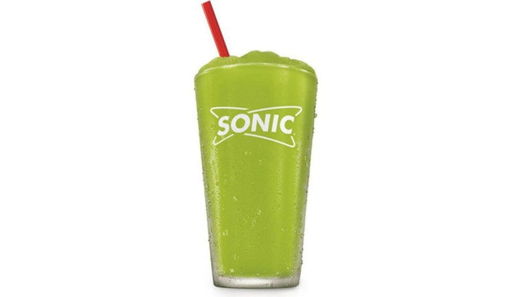 Pickle juice slushie at Sonic-404023