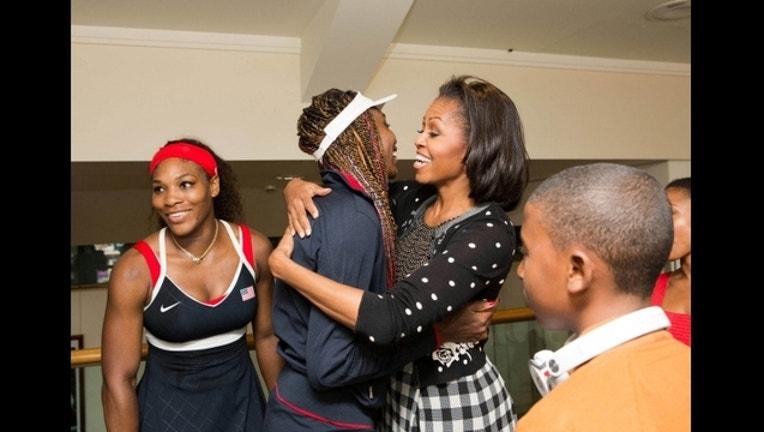 6e9efd79-Serena Williams, Venus Williams and Michelle Obama