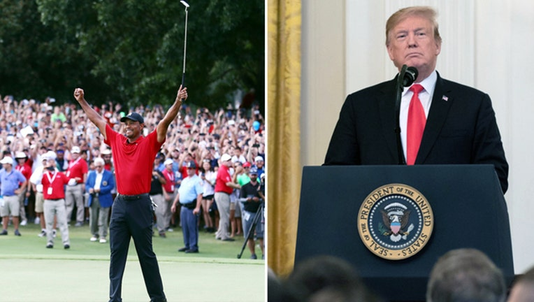 Getty and Public Tiger Woods and Donald Trump 41519-401720-401720