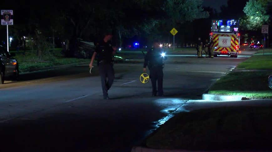 One person killed in accident, vehicle fire in southwest Houston, police say