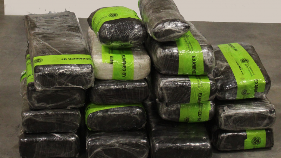 Packages containing 88 pounds of methamphetamine seized by CBP officers at Pharr International Bridge.