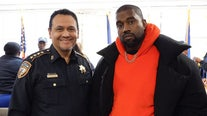 Kanye West and choir perform at Harris County Jail