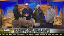 Pitching great Roger Clemens helping to stamping out hunger