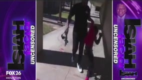 Woman drags child out of school cafeteria to beat him with a belt