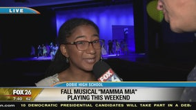 Ruben gets an inside look at Dobie High School's production of Mama Mia