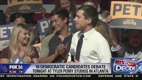 Democratic candidates debate at Tyler Perry Studios in Atlanta