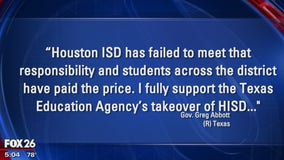 HISD being taken over by Texas Education Agency