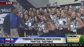 The students at Tomball Memorial HS show their spirit