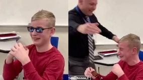 Colorblind boy has emotional reaction after seeing color for the first time in viral video