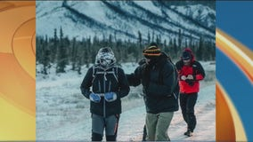 Kevin Kline has completed 100 miles in his 'Delivering Hope Run' in Alaska