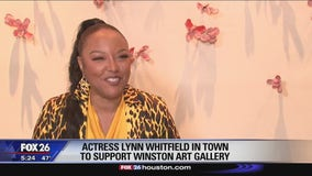 Actress Lynn Whitfield in Houston area to support art