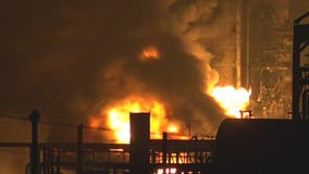 How dangerous is the gas burning in the refinery explosion in Port Neches?