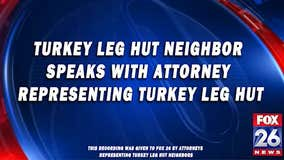RAW: Turkey Leg Hut neighbor records conversation with Turkey Leg Hut lawyer